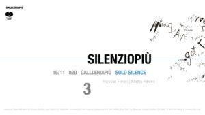 Silenziopiù | Solo Silence (2018)